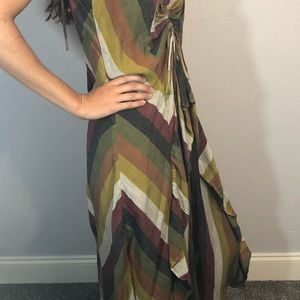 Free People Dresses - Free people ruffled striped lightweight dress sz M